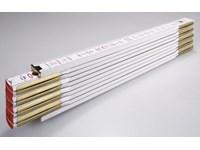 Vouwmeter , houten plooimeter Stabila serie 1907 plaatstaal scharnieren  UIT COLLECTIE !!
