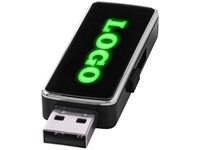 USB stick met licht waardoor het gegraveerde logo oplicht