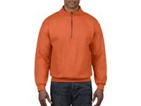 Stevige sweater in katoen/polyester met korte rits Gildan 18800