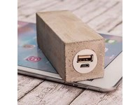 Rechthoekige powerbank in echt beton, art. Q pack Major Square concrete art.A101097