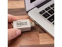 Rechthoekige USB stick in echt beton, art. USB Flach drive Major art A01167