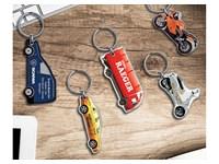 Custom made sleutelhanger , iedere vorm mogelijk, al vanaf 100 stuks in uw logo