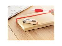 Houten USB stick, rotererend . Combinatie hout- metaal