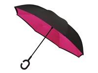 inside out paraplu , dubbeldoeks, windproef, nooit een natte paraplu in de wagen
