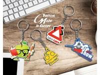 Rubberen sleutelhangers , flexibel, kleurrijk en licht