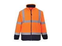 High Visual Fleece Bi color Portwest F301 met lange rits