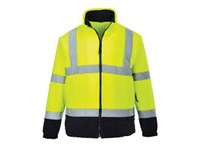 High Visual Fleece Bi color Portwest F301 met lange rits